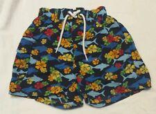 Boys dark blue swim trunks, size 18 mo