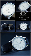 Classic Moments Roman Cavadini Designer Men's Watch New Sapphire Coated Glass