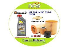 kit olio  e filtri per CHEVROLET MATIZ II 0.8cc  38Kw 52cv GPL dal 2005 in poi