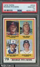 1978 Topps #703 Rookie Pitchers w/ Jack Morris RC HOF PSA 10 GEM MINT