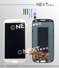 Schermo display touch screen biadesivo Samsung Galaxy S3 i9300 bianco + kit