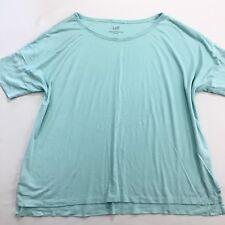 J Jill Short Sleeved Top Womens Size L Blue Whisper Weight Dolman Tee Cotton
