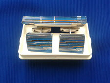 Vintage USSR - Cufflinks and tie clip Russian.