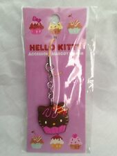 Hello Kitty Cupcake Cellphone Charm Bag Charm Rare Kawaii Sanrio Trinkets Choco