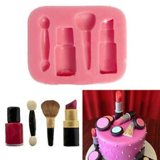 Lippenstift Silikon Fondant Mould Kuchen Sugarcraft Schokoladen Backen Rosa Form