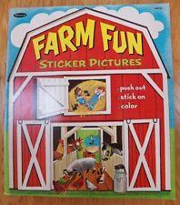 Vintage Whitman 1967 FARM FUN Activity Sticker Book Softcover