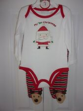 First Impressions Santa Claus My 1st Christmas 2 Piece Sleeper Set 6-9 months