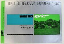 prospectus brochure Samro sprint arracheuse pommes de terre tracteur tractor