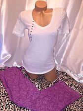 Victorias Secret Pajama Tee-jama Set XS Paisley Print Pants Adorable