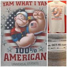 """Popeye the Sailor Universal Studious Large or XL T-shirt  22"""" Pit2Pit OCT-15"""