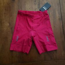 Zoot Youth Xl Tri Short Protege Girls Run Swim Cycling Punch Red/Pink Sbr Pad
