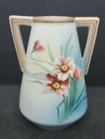 Antique Morimura Nippon hand painted vase 1911 to 1922 Floral Moriage