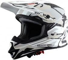 Casco helmet helm capacete cross ASTONE MX600 MX 600 Giant BIANCO NERO TAGLIA L