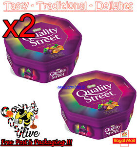2x Christmas Chocolate Tubs Quality Street Tub - New