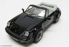 PORSCHE 911 SC Cabrio 3.0 1983 in nero auto modello in scala 1:43