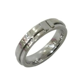 Tiffany & Co. ring White gold Narrow ring US size 6-6.5 Auth
