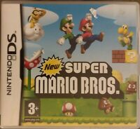 Nintendo DS New Super Mario Bros in Clear PAL Europe Fat Casing TESTED VG fr/shp
