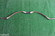 40lb Brown Handmade Traditional Longbow Recurve Bow For Horse Archery Practice
