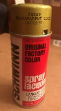 SCHWINN BICYCLE VINTAGE 1975 70's SPRAY PAINT CAN Lacquer Transparent Gold Rare