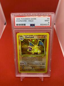 Charizard 1999 Pokemon Base Set 4/102 RARE HOLO PSA 9 MINT