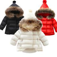 Fashion Boys Winter Coat Baby Girls Jacket Kids Warm Outerwear Hooded jacket