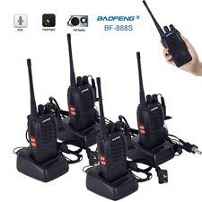 4xBaofeng BF-888S UHF 400-470MHz Handheld Two-way 5W Radio HT Walkie Talkie 16CH