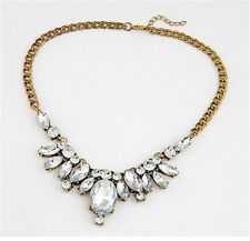 Hot Fashion Crystal Rhinestone Chain Statement Choker Charm Bib Pendant Necklace