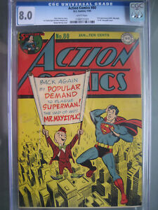 Action Comics #80 CGC 8.0 WP 1945 1st app Mr. Mxyztplk Cover
