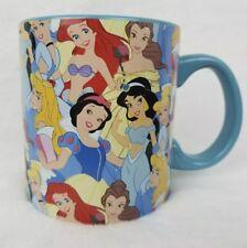 DISNEY Princesses Large Coffee Mug 20 Oz Silver Buffalo Blue Belle Ariel *NEW*