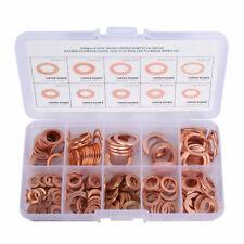 200tlg Kupferringe Dichtring Sortiment Set Kupfer Kupfer  Ölablaßschrauben Box