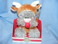 Me to You Bear As Christmas Reindeer G01W6330 Blue Nose Tatty Teddy Present