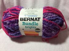 Yarnspirations Bernat Bundle Brights Yarn 8.8 Oz. Skein Razzleberry