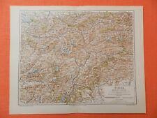 TIROL  ÖTZTHALER ALPEN Innsbruck Landkarte v.1897 Ötztal