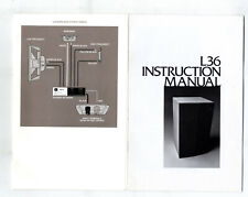 JBL - L 36 -  INSTRUCTION MANUAL -  ORIGINAL BOOK