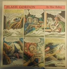 Flash Gordon Sunday Page by Mac Raboy from 4/4/1954  2/3's Full Page Size