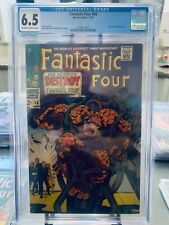 Fantastic Four #68 CGC 6.5 Mad Thinker Appearance Stan Lee Jack Kirby Free Ship