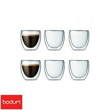 Bodum Pavina Double Wall Glasses Set Of 6 Clear 0.08L Serveware Kitchen Home New