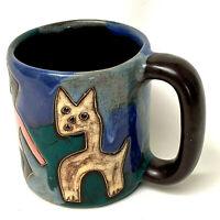 Mara Mex Artist Signed Coffee Tea Cup Pottery Mug Mexico