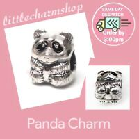 New Authentic Genuine PANDORA Silver Panda Charm - 790490EN16 RETIRED RARE