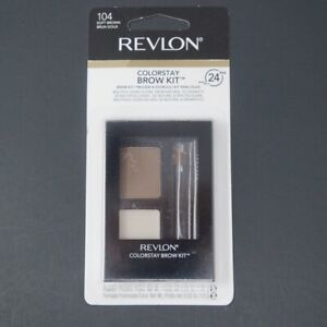 Revlon ColorStay Brow Kit Pick Shade Soft Black, Soft Brown, Dark Brown 101-104