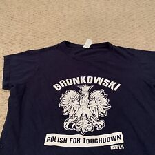 Gronk Rob Gronkowski Polish For Touchdown New England Patriots T Shirt Womens L