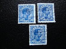 DANEMARK - timbre yvert et tellier n° 142 x3 obl (A9) denmark