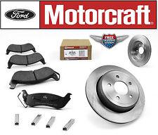 Set of 2 Rear Disc Brake Rotor 54105 & Motorcraft Rear Brake Pads BR932B