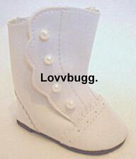 White Victorian Boots for American Girl