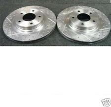FOR MAZDA RX7 2.6TURBO FD CROSS DRILLED GROOVED BRAKE DISC   REAR