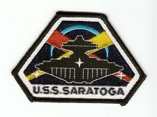 + SPACE 2063 SPACE ABOVE AND BEYOND Aufnäher Patch U.S.S.  SARATOGA