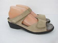 Mephisto Beige Nubuck Leather Slide Wedge Sandals Size 41 11 M
