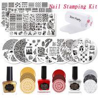 BORN PRETTY Nail Stamping Plates Stamping Polish Stamper Starter Kits Nail Art