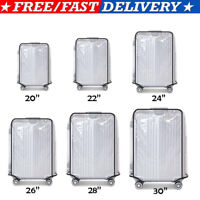 """20-30"""" Transparent Waterproof PVC Travel Luggage Suitcase Protective Cover Case"""