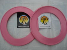 Durable PVC (PINK LARGE)  Fling A Ring - Frisbee . Paws Paradise + Plutos Pets